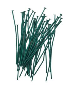 100 stuks electroplated nietstiften 50 x 0,7mm, groen lees omschrijving