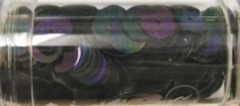 Gutermann pailletten 8mm rond zwart AB 10.5gr.