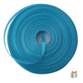 1 meter satijnlint lint 7 mm breed (smal) blauw