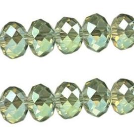 15 x Topfacet 8x6 mm Diamond Groen