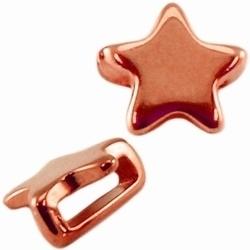 Per stuk metalen Ibiza schuiver ster Rose Gold  Ø10mm
