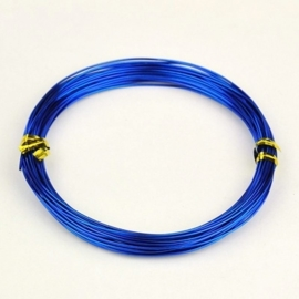 Aluminium draad 1mm dik, 10m/rol donker blauw