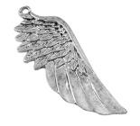 2 x grote Tibetaans zilveren Engelen vleugel, oud zilver 56 x 26 x 2mm Gat 2,5mm