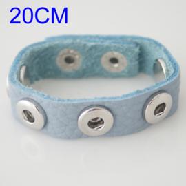 Armband pastel blauw 20 cm