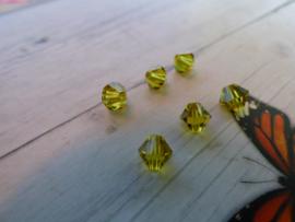 10 x Preciosa Kristal Bicone 5.5/6mm  gat: 1mm