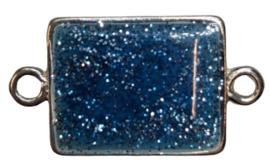 1 x tussenzetsel blauw 24x19 mm gat 3 mm