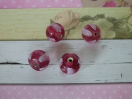 5 x High Quality Glass Hand Made Bead 098  afm. ca. 11mm