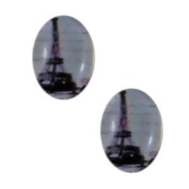 2 x Glas Cabochon 18x13 mm Eiffeltoren
