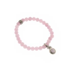 Prachtige BIBA Armband J065 Pink 6mm