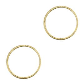 2 x Onderdelen DQ metaal dichte ring 15mm Antiek brons