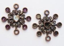 Per stuk oud goud metalen hanger kastjes 33 mm