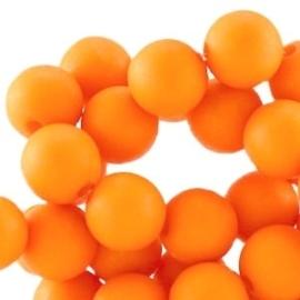 20 stuks Acryl kralen mat rond 6mm Russet orange gat c.a.1mm