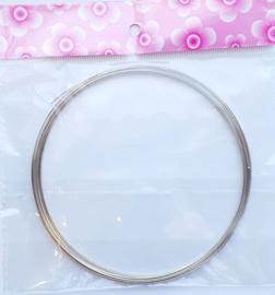 Memory Wire voor kettingen platinum 15 wendingen 0,6mm dik, Ø  11,5cm