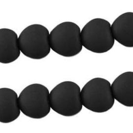 10 stuks Acryl kralen hart 10mm Zwart