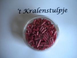 Pracht - glasstiften buisjes met zilverinslag 6mm 17 gram snoep roze