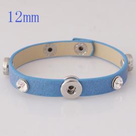 Armband blauw met strass 22 cm