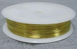 Goudkleurig metaaldraad 0,3mm dik 25 meter op een rol goudkleur