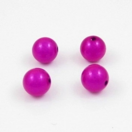 10 x Miracle kralen fuchsia 12mm