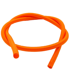 100 cm hol Rubber DQ koord 2mm per meter geknipt oranje