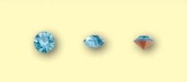 Doosje met 12 stuks Jewelry Stones (M.C. Chaton) 3,8-4mm Aquamarine SS16