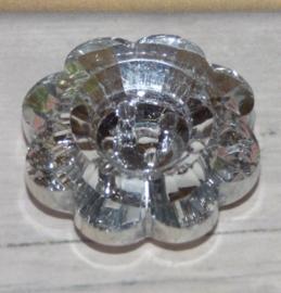 Schitterende facet glaskraal knoop met 4 gaten 25mm gat ca: 1,5mm