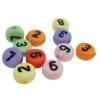 1 keer cijfer kraal 7mm acryl Gat 1mm, u krijgt een willekeurige kleur uit een mix