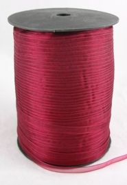 1 meter organza lint 6mm dark red