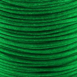 2 meter Macrame Satijndraad 1.0 Emerald Green