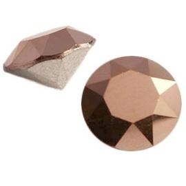 2 x Swarovski Elements SS39 puntsteen (8mm) Crystal rose gold