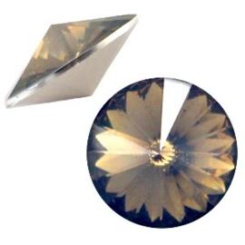 1x BQ quality 1122- Rivoli puntsteen12 mm Greige opal ca. 12 mm (1122)