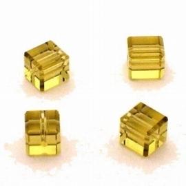 10x Preciosa Handgeslepen kristal kraal 8mm goud geel