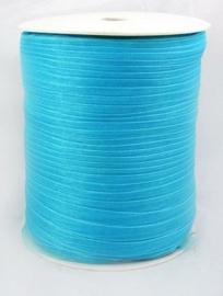 2 meter organza lint 6mm dark turquoise