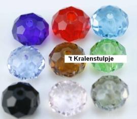 10 x gemixte assortiment Briolette kristal kraal 8x6 mm gat 1,5mm
