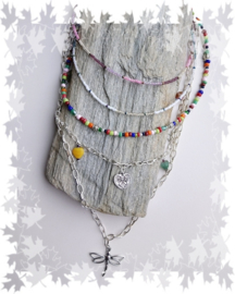Layered necklace hippie style