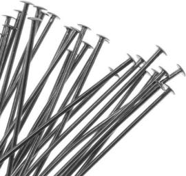 100 stuks zilver zwart gunmetal nietstiften 30mm