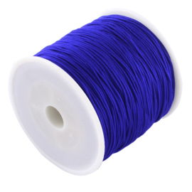1 rol 90 meter gevlochten nylon koord, imitatie zijden draad 0,8mm blue