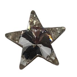 2x Precosia punt Kristal Ster Transparant 10 mm