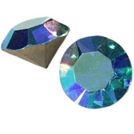 2 x Preciosa SS 29 puntsteen (6.2mm) Aqua bohemica AB