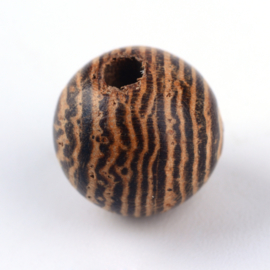 20 x Houten Kralen Rond 8mm Naturel Coconut Brown gat: 2mm