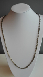 Per stuk metalen ketting Geelkoper Ca. 1meter lang zonder sluiting