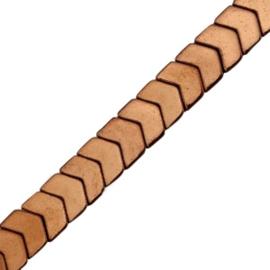 5 x Hematite kralen arrow Rosegold ca 6×5 mm
