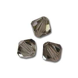 10 x Preciosa Kristal Bicone kraal 8 mm smoke grey