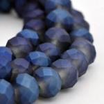 10 x facet glaskralen 8x5mm Blue