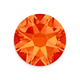 10 x  Swarovski plat strass steentje 5mm Oranje