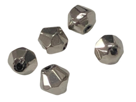 20 x Pesciosa bicone kristal kralen 4 mm gat 1 mm zilver