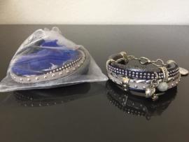Workshoppakket DIY armband Blue Heart
