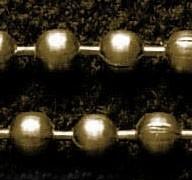 50 cm Ball Chain ketting dikte 3,2mm geel koper kleur