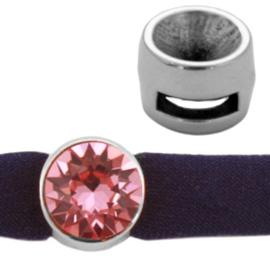 DQ metaal puntsteen schuiver SS39 Antiek zilver (nikkelvrij)) (Ø 2.2x7mm)