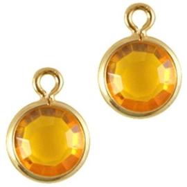 2 x DQ facethanger gekleurd Goud-yellow 7x10 mm