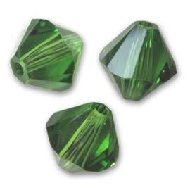 10 x Preciosa Kristal Bicone kraal 8mm Fern Green